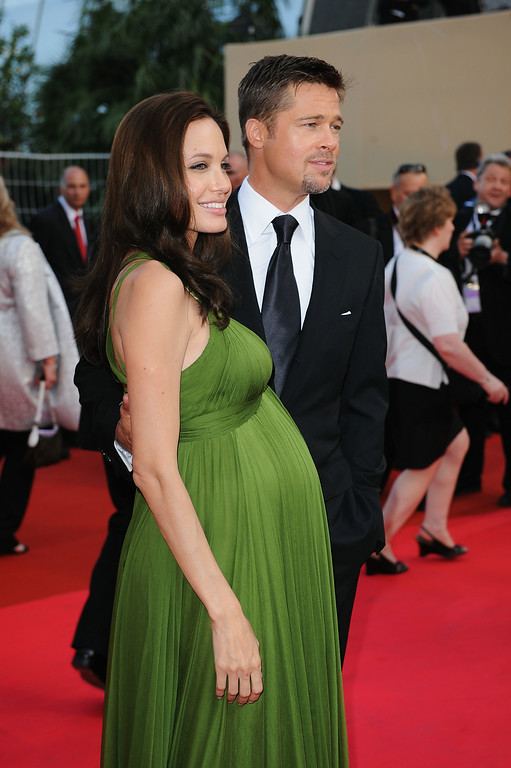 . CANNES, FRANCE - MAY 15:  Angelina Jolie and Brad Pitt arrive at the Kung Fu Panda Premiere at Palais des Festivals during the 61st International Cannes Film Festival on May 15 , 2008 in Cannes, France.  (Photo by Gareth Cattermole/Getty Images)