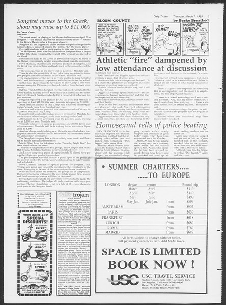 Daily Trojan, Vol. 98, No. 38, March 07, 1985
