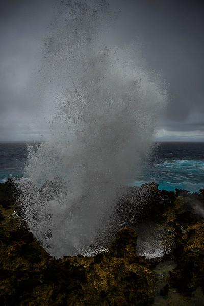 Blowholes, Christmas Island, Australia.