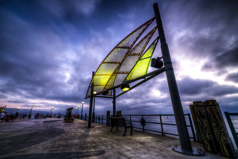 Relaxation on the Redondo Pier  This HDR photo was taken on the Redondo Pier. We've been fortunate to have bad weather in southern California this last year. Makes for some nice photography.  Check out more of my High Dynamic Range Photography on my blog.