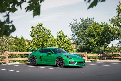 Green Cayman GT4 Photos