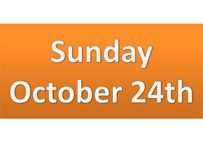 Sunday, October 24th