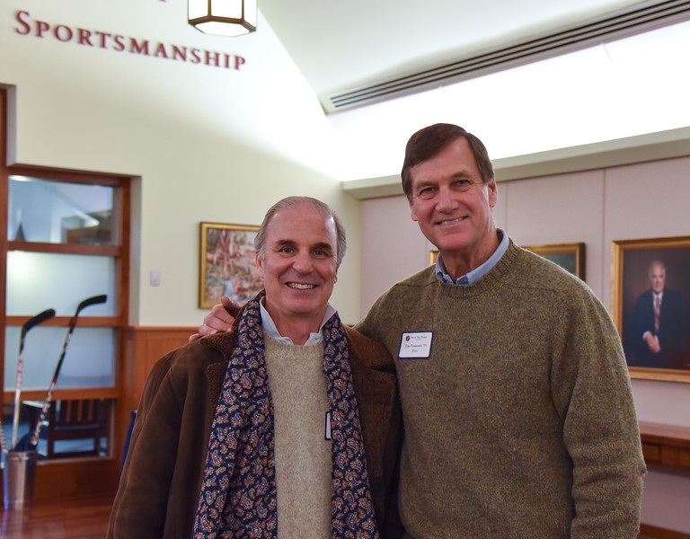 Joe Howard '75 and Tim Trautman '75, P'03