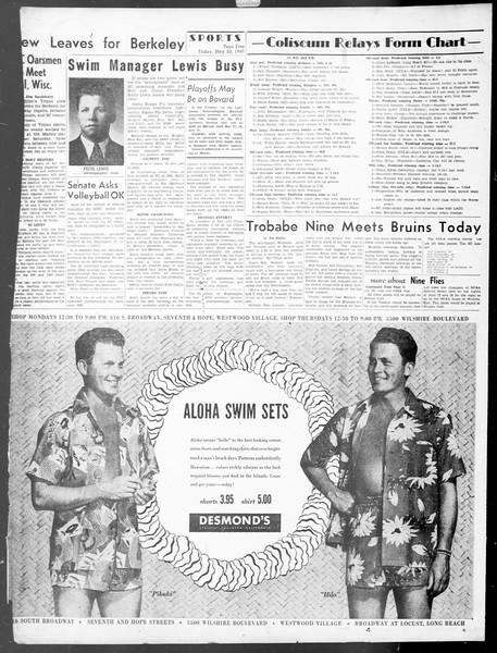 Daily Trojan, Vol. 40, No. 144, May 20, 1949