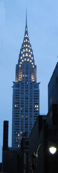 An early morning look at the Art Deco Chrysler building