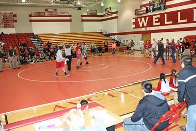 Wellington wrestling vs. Mulvane, Buhler