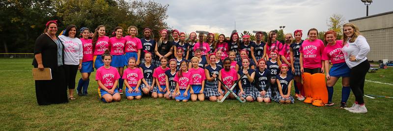 2016-10-13 Hampton Academy Girls Field Hockey vs Seabrook Middle School