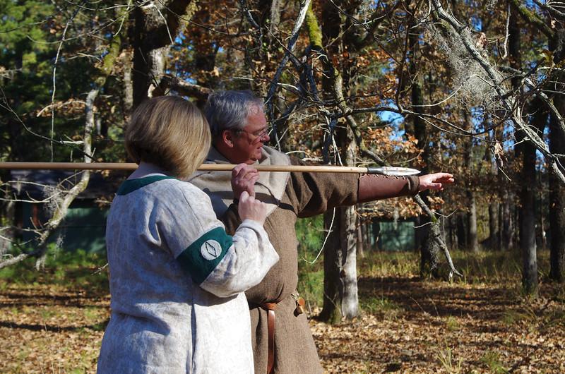 James the Shrub teaches spear
