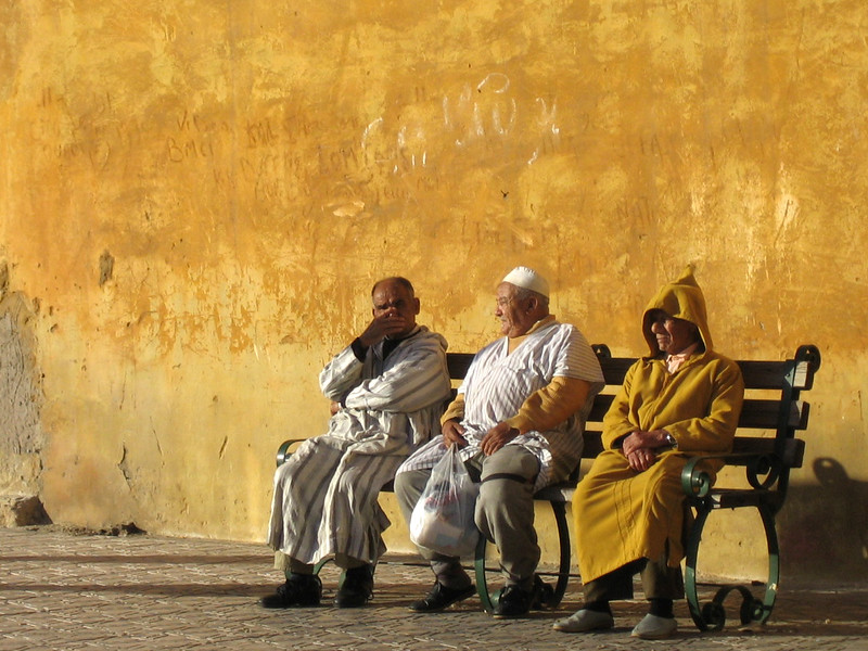 Moroccan Men Sitting