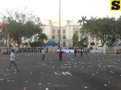 Freedom march of Cebu Gov. Gwen Garcia's supporters