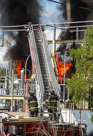 Waldwick NJ Multiple Alarm Fire, PSE&G sub station, Hopper Ave.  09-13-15