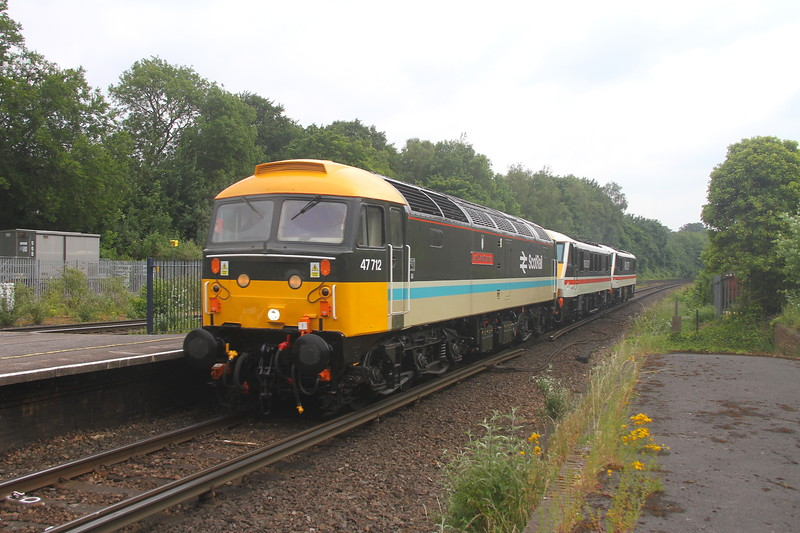 47712 Micheldever 11/06/20 0Z37 Eastleigh to Crewe Holding Sidings with 90001 and 90002