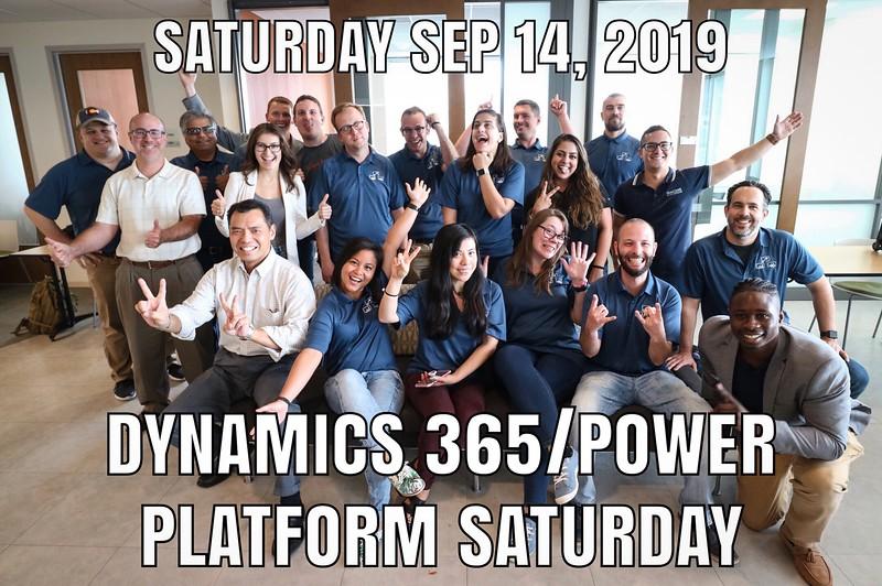 20190914 D365/Power Platform Saturday 2019 Reston