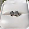 1.70ctw Old European Cut Diamond Clover Stud Earrings, GIA H-I SI 16