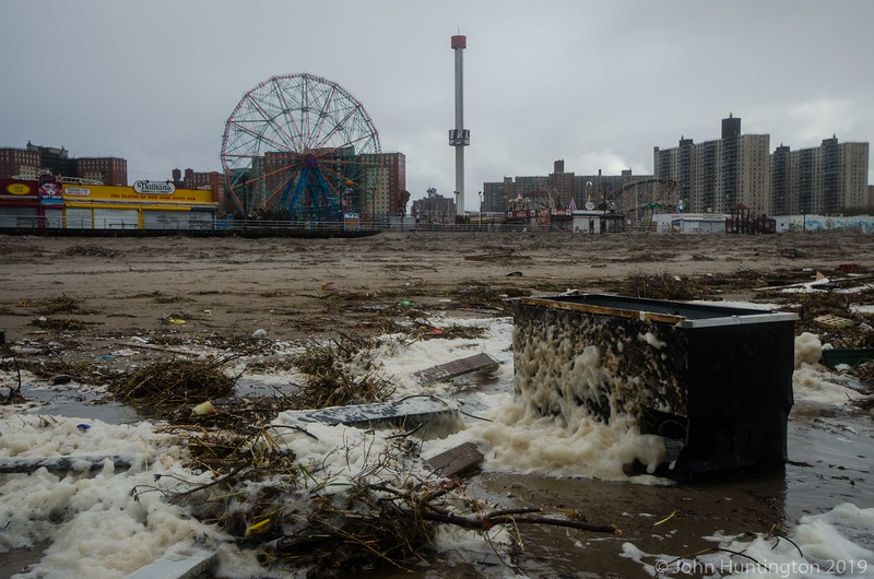 Coney Island beach debris.