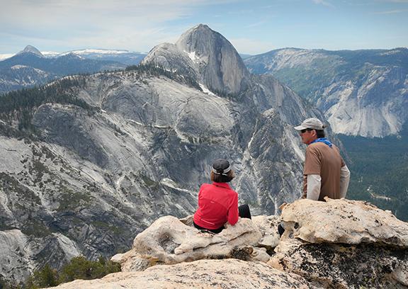 View from Mt. Watkins, Yosemite National Park