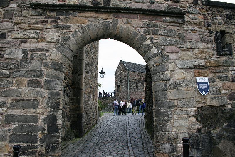 """""""Foog's Gate"""" - The main entrance to the Citadel by the 17th Century, the perimeter wall, looped for both cannon and musketry, was built in King Charles II's reign (1660-85)."""