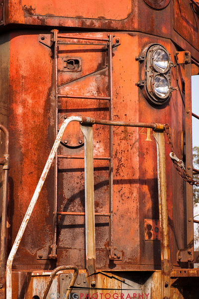 Railroad engine detail, Schellville, CA