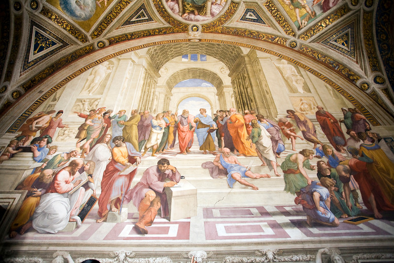 School of Athens, Rapahel's rooms, Vatican museums