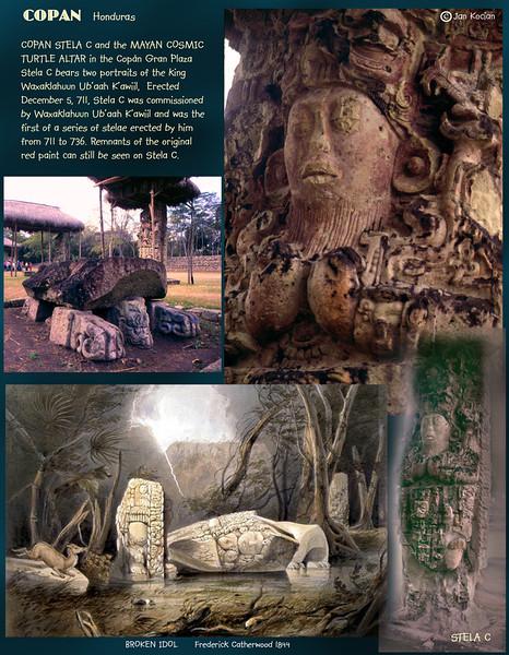Stela C. Copan ruins, Honduras. February 27, 1987