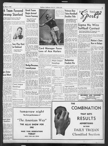 Daily Trojan, Vol. 32, No. 135, May 06, 1941