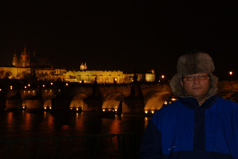 Tony Near the Water at Night in Prague 2.JPG