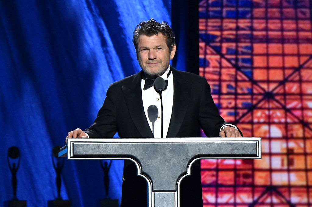 . Jann Wenner speaks onstage during the 30th Annual Rock And Roll Hall Of Fame Induction Ceremony at Public Hall on April 18, 2015 in Cleveland, Ohio.  (Photo by Mike Coppola/Getty Images)