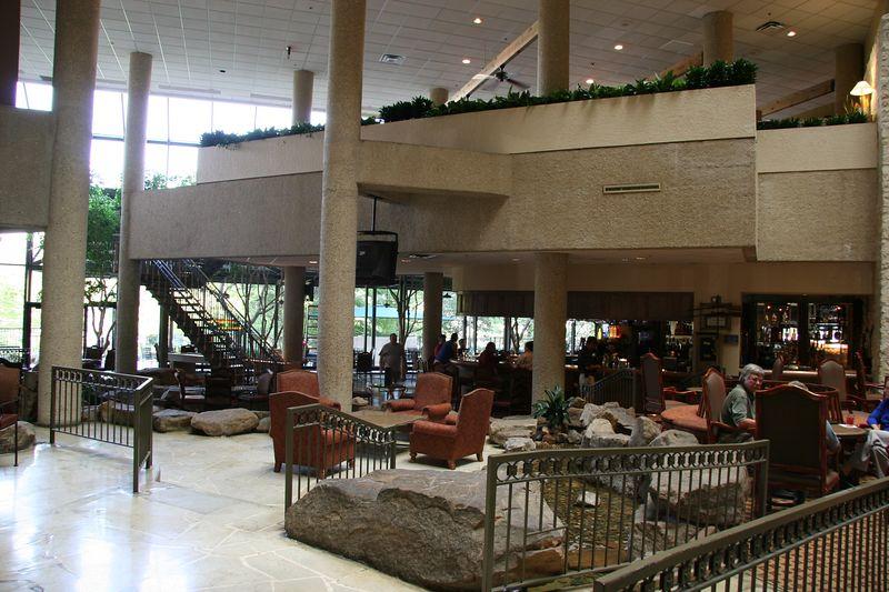 Bar area inside the Hyatt Regency Hotel