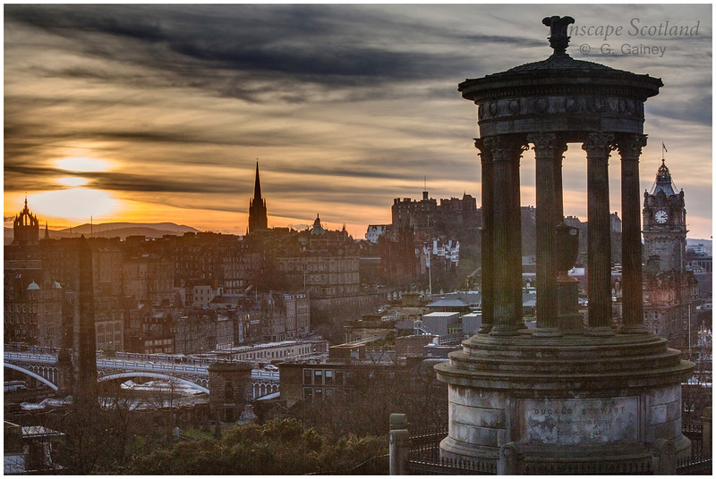 Wnter sunset from Calton Hill