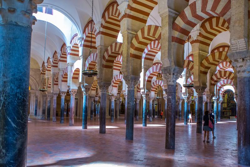 La Mezquita (candy striped mosque)