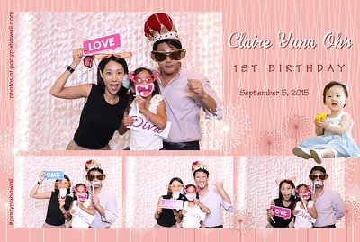 Claire's 1st Birthday (Mini Open Air Photo Booth)