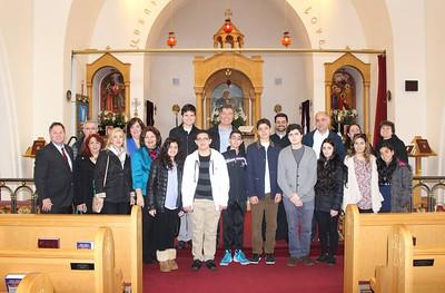 Khrimian Lyceum Visits St. Gregory the Enlightener Church, White Plains, NY, April 2, 2016