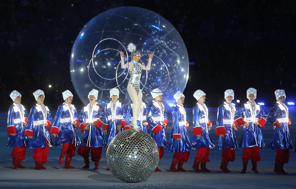 . Dancers perform during the Closing ceremony of the XXI Winter Sochi 2014 Paralympic Gamesi, Russia.  EPA/SERGEI CHIRIKOV