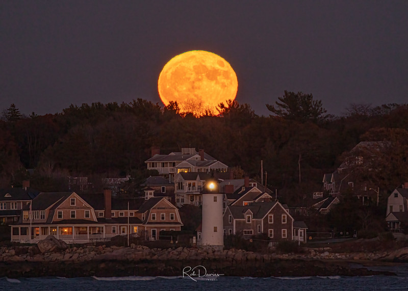 Moonrise over Annisquam Lighthouse