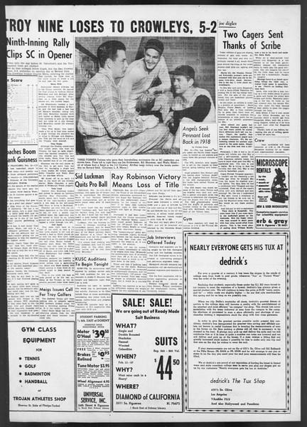 Daily Trojan, Vol. 42, No. 71, February 14, 1951
