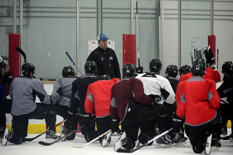 . Colorado Avalanche head coach conducts practice Wednesday, January 16, 2013 at Family Sports Center. John Leyba, The Denver Post