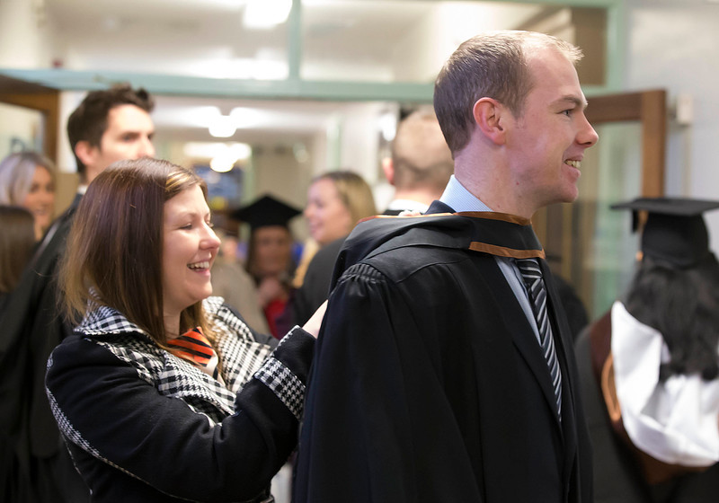 Pictured Derek Doherty from Monaghan who graduated Bachelor of Arts (Honours) in Design . Pictured also is his sister Patrice. Picture: Patrick Browne