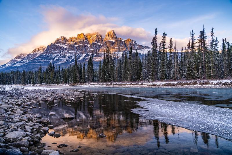 Castle Mountain Reflections Banff National Park