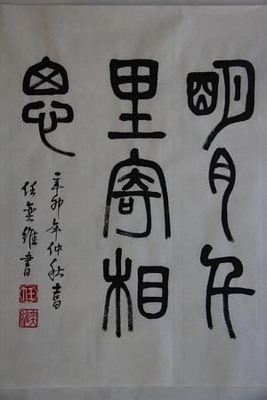 David Ren's Calligraphy Homework