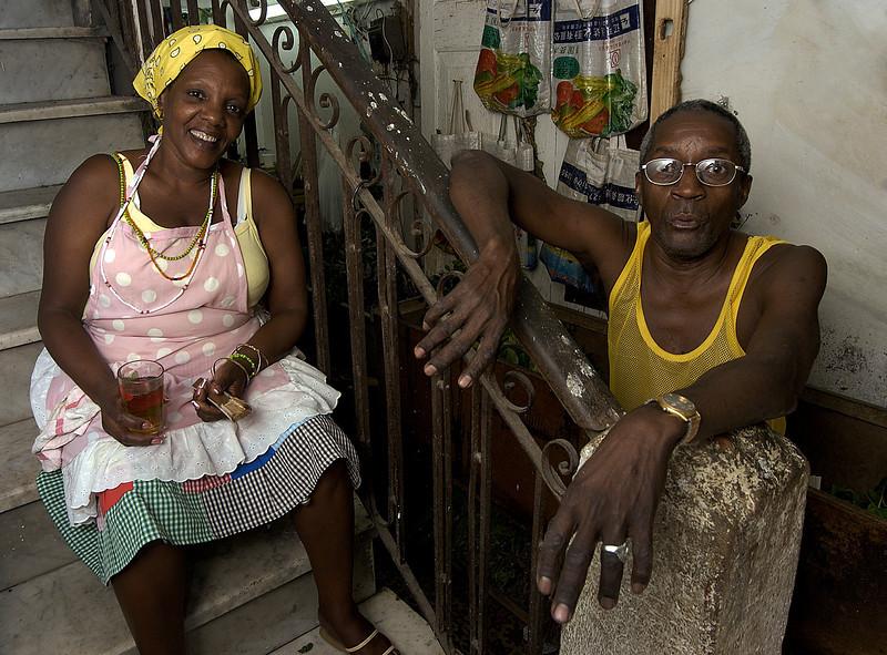 husband and wife.   Havana, Cuba, 2006