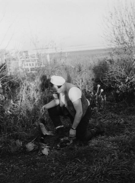 ARH003.  Joey B. Burgum with pheasants – 1943‡.jpg