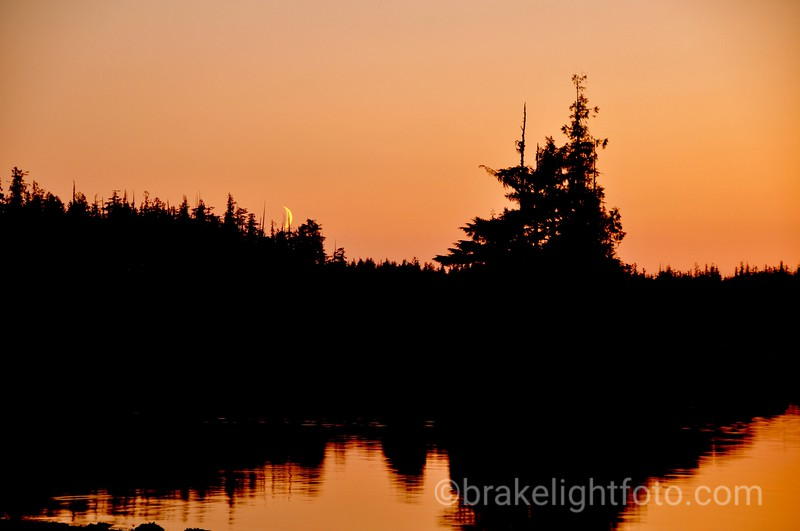 Moonset & Sunset in Higgins Passge