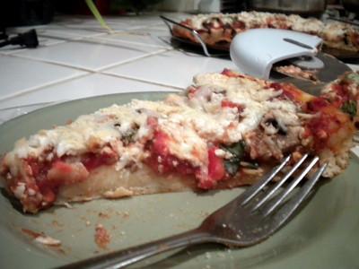 Homemade Vegan Pizza Masterpiece 2010-02-03