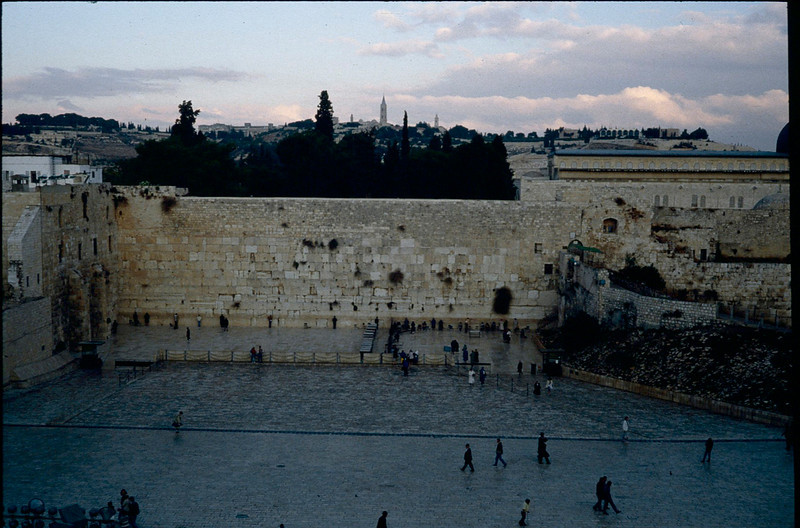 Western wall of Solomon's temple  960BC.