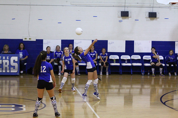 Lady Pioneers vs Dupont Panthers 10-22-14 (V)