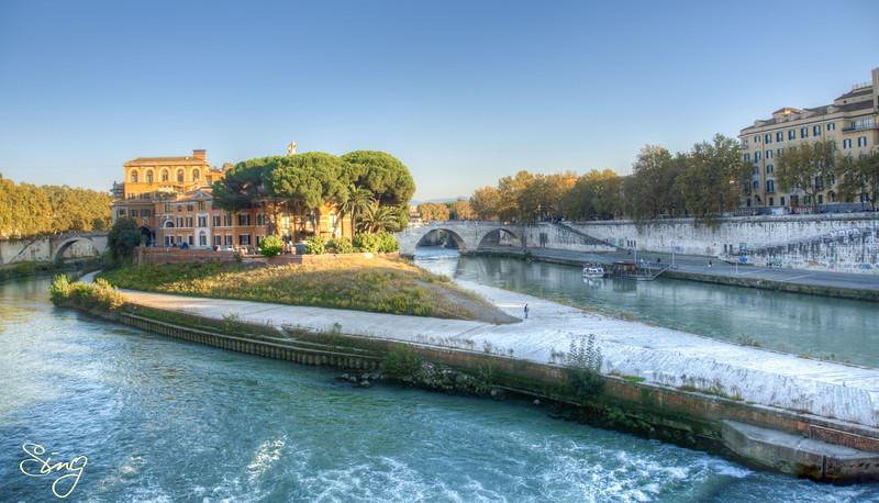 Tiber Island. Rome, Italy