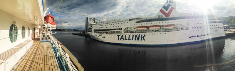 Sister ship at dock