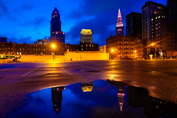 Early Morning Spring Downtown CLE