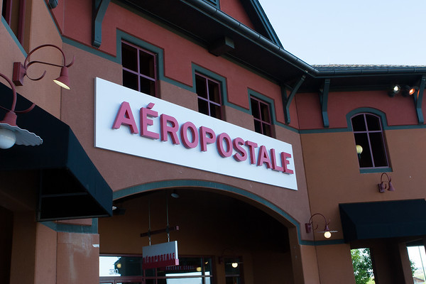 New Aeropostale sign