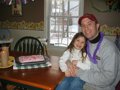 March 2006 photos (Hailey celebrates Dad's birthday, meets Clifford, goes to Jared & Logan's party and checks out UMass lacrosse.)